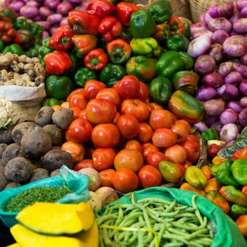 Picture of vegetables at Bolivian marketplace